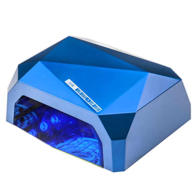 LAMPA NA NECHTY 2v1  UV LED 24W + 12W UV  CCFL PRO TIMER + SENZOR  BLUE DIAMOND