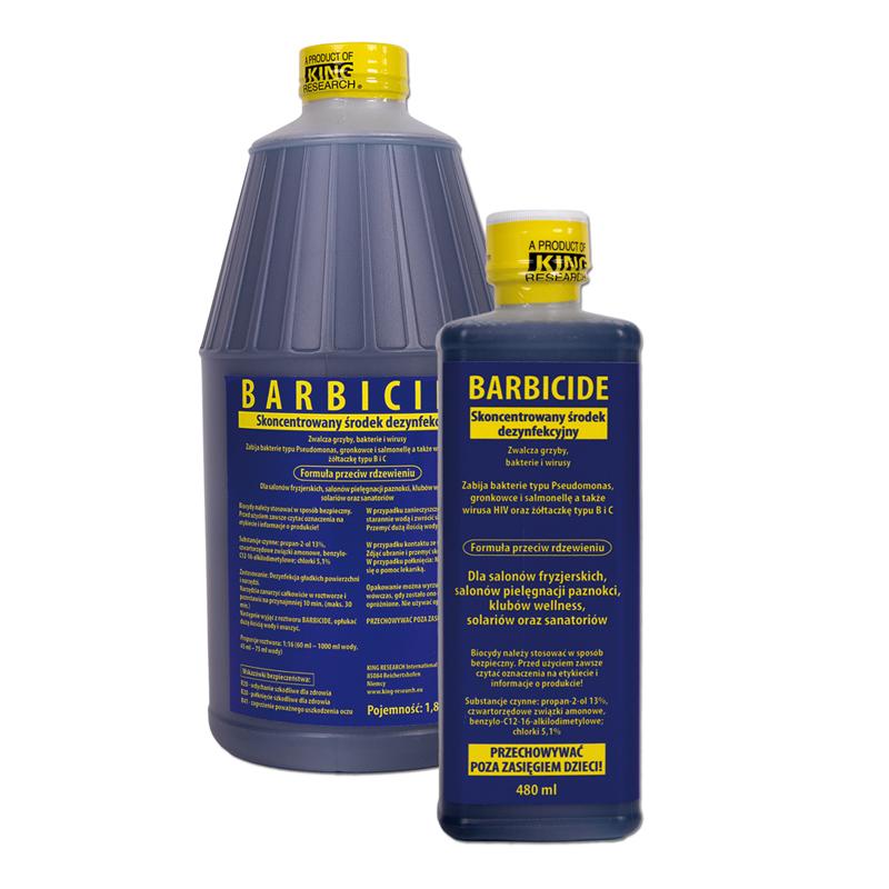 BARBICIDE Koncentrát na dezinfekciu nástrojov a príslušenstva 480ml