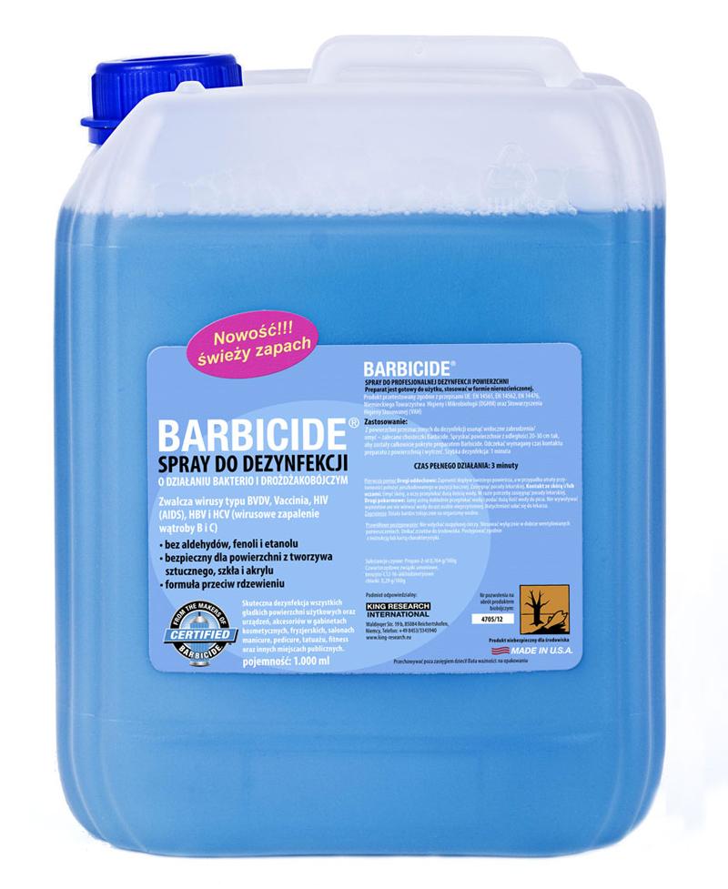 BARBICIDE Dezinfekčný sprej na všetky typy povrchov s vôňou - náplň 5l