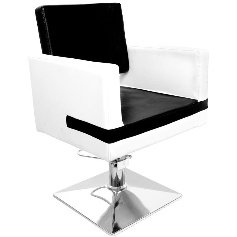 KADERNÍCKE KRESLO HAIR SYSTEM Q-S003 WHITE/BLACK