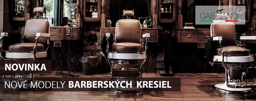 Nové modely Barberských kresiel